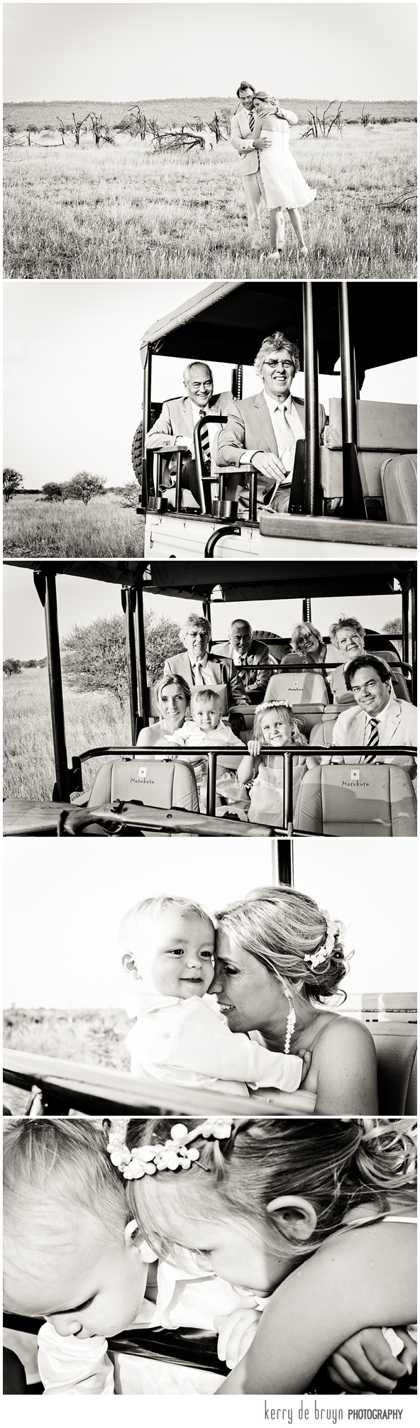 Safari wedding photography
