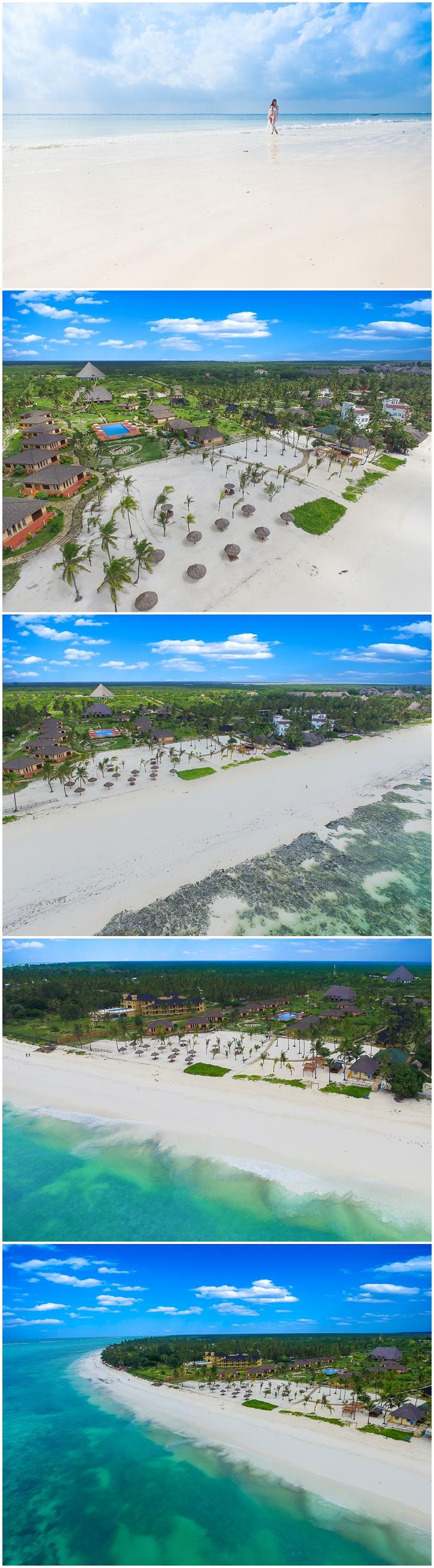 Aerial photographer Zanzibar