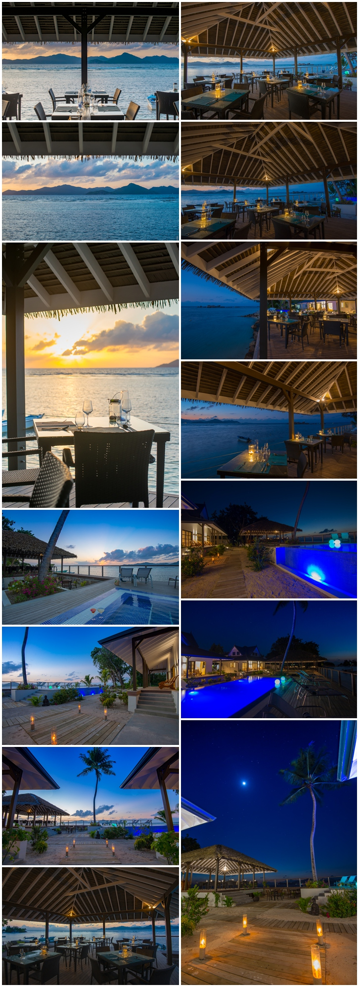 Le Nautique luxury waterfront hotel on La Digue
